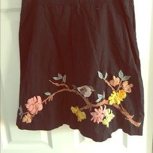 Karen Nicol Embroidered Bird Skirt